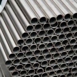 Tube rond en acier galvanisé 32mm brut coupé