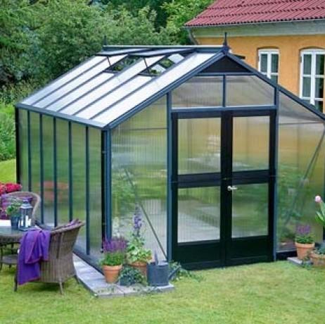 Serre en verre polycarbonate Premium 8,8m²