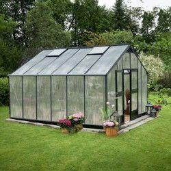 Serre en verre polycarbonate Gardener 16,2m²
