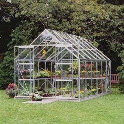 Serre de jardin Magnum 128 en verre horticole - 9.90 m²
