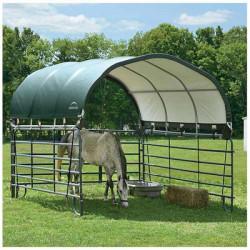 Atout Loisir vous propose sa sélection d'abris pour chevaux de qualité professionnelle. Protégez vos équidés grâce à nos abris configurables qui s'adapteront à votre environnement : terrain, vent, altitude...