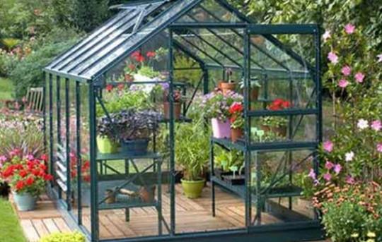 Serre de jardin en verre trempé
