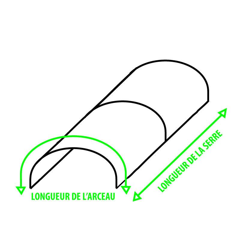 Schéma dimensions pour bâche 250 microns